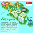 Singapore map cartoon style vector image vector image