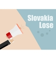 Slovakia lose Flat design business vector image vector image
