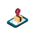 smartphone delivery box destination online vector image
