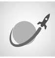 space rocket around planet copy vector image vector image