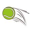 tennis ball sport icon vector image vector image