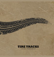 tire tracks on mud background vector image vector image