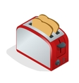 Toaster with bread Modern design of the bread vector image vector image