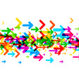 white background with colorful arrows vector image