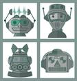 02 Head Robot Design vector image