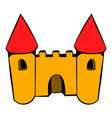 castle icon icon cartoon vector image