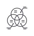 diagram marketingcircle parts line icon vector image