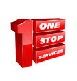 1 stop services banner vector image