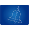 3d model of a bell on a blue