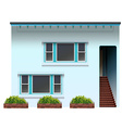 A blue house vector image