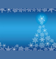 a seamless winter background with christmas tree vector image