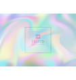 abstract iridescent paper holographic background vector image vector image