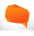Abstract origami speech bubble EPS8 vector image vector image