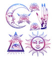 an ancient astronomical of the sun vector image vector image