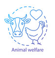 animal shelter welfare concept icon voluntary vector image vector image
