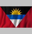 antigua and barbuda realistic waving flag vector image vector image