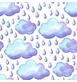 aquarelle pattern with clouds and rain vector image vector image
