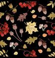 autumn maple nature seamless pattern illust vector image vector image