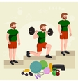 before and after weight loss men concept fitness vector image vector image