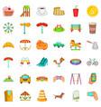 big city icons set cartoon style vector image vector image