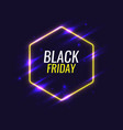 black friday banner original poster for discount vector image vector image