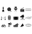 Black movies icons set vector | Price: 1 Credit (USD $1)