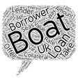 Boat Loans The Most Convenient Way To Become A vector image vector image