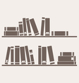 Book on the shelf vector image vector image
