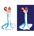 bride in wedding dress vector image vector image