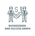 businessmen and success graph line icon vector image vector image