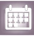 Calendar icon with shadow vector image