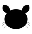 cat head the black color icon vector image vector image