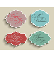 christmas labels 1411 vector image vector image