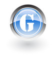 circle letter g icon logo vector image vector image