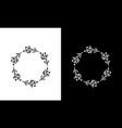 circle natural leaf flower decorative logo design vector image