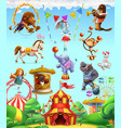 circus funny animals set icons 3d icon set vector image vector image