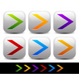 colorful sharp arrowheads pointing right vector image vector image