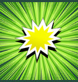 comic book page green concept vector image vector image