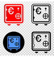 composition of gradiented dotted euro banking safe vector image vector image