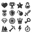 computer games icons set on white background vector image vector image