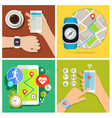 concept of smart watch vector image vector image