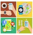 concept smart watch vector image