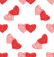 Couple of hearts pattern vector image vector image