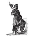Crusader Knight Engraving vector image