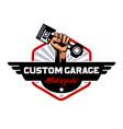 custom garage motorcycles logo vector image