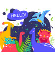 cute dinosaurs - colorful flat design style poster vector image vector image
