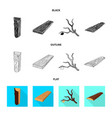 design of tree and raw symbol set of tree vector image vector image