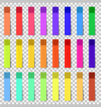 different colored sheets of note stickers vector image vector image