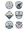 electrical service badge of electricity supply vector image
