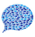 fish hint collage vector image vector image